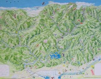 石鎚山散策絵図