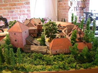 Modell der Burg Bodenteich