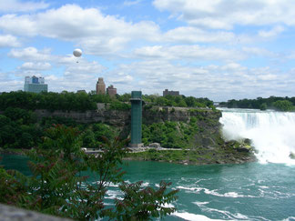 The American Falls and The Rainbow Bridge - View from Canada