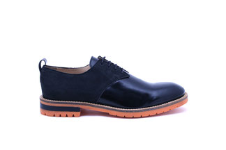GORDON1 Leather Glace coloris Black/nubuck Black