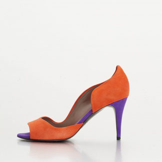 SCARLETT coloris Vermillon/Purple Velvet