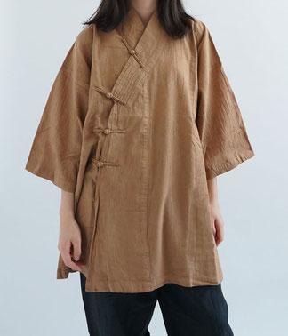 ヂェン先生の日常着 かさねチャイナ七分袖