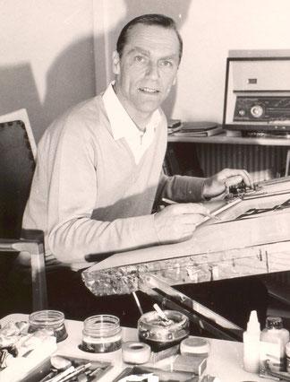 Heinz Traimer akademischer Grafiker in den 1970er Jahren.
