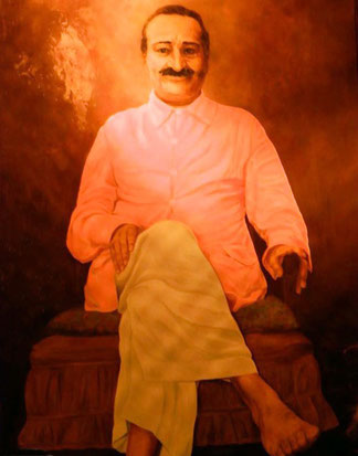 Meher Baba painted by Marguerite