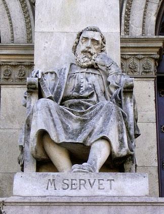 Michel Servet est né en 1511 en Espagne. Il devient très tôt un élève brillant. A l'âge de 14 ans il connaît le grec, le latin et l'hébreu et il a une vaste connaissance de la philosophie, des mathématiques et de la théologie.