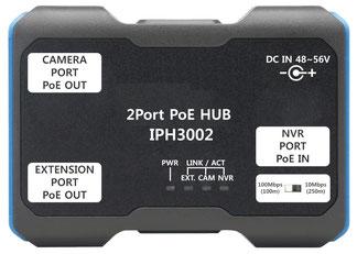 ネットワークカメラ用  3ポートPoE+エクステンダー IPH3002製品写真