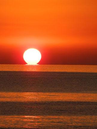 今日の夕日 特別真っ赤でした!また明日から頑張りましょう。