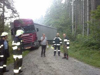 Einsatz LKW- Bergung 10.08.2015