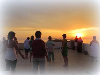 Sonnenuntergangsmeditation | Seminarreise Korfu