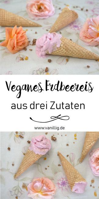 Einfaches Rezept für veganes Erdbeereis