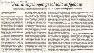 Rheinpfalz-Bericht Abschlusskonzert 125 Jahre Lyra