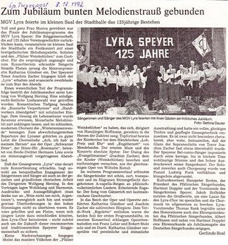 125 Jahre Lyra Speyer