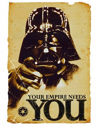 Star Wars Poster Retro Darth Vader Your Empire needs you