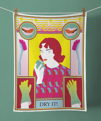 tea towel by gabriele duenwald