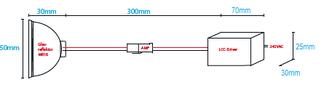 Einbaumasse LCC-6W/Kit-WW