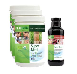 Bild: L.O.V.E., Getränkepulver, Energy-Drink, Vegan, Biologisch, Super Meal, Platinum Europe