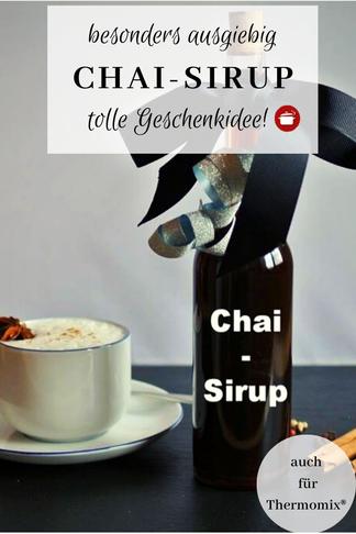 Rezept für Chai-Sirup, #chailatte #chaitea #weihnachten #geschenkideen #sirup
