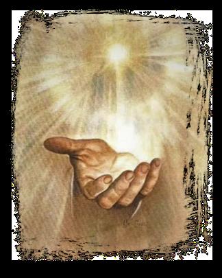 Tout comme la main de droite de Jésus a permis de rassurer l'apôtre Jean tombé à ses pieds comme mort, la main de l'homme vêtu de lin touche Daniel pour le fortifier après être tombé dans une profonde torpeur.