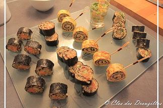Maki de quinoa au crabe