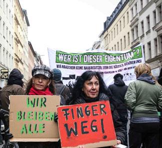 Demo mod gentrificering i Berlin januar  2017