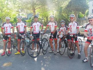 Avant le départ: manquent Alain, Bruno2, Michael, Morgan et Rémi