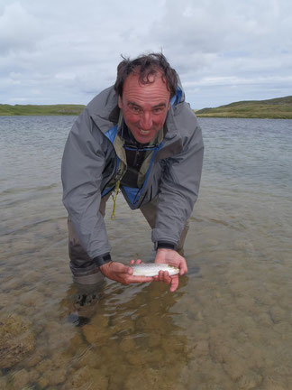 It may not have been huge but the first trout was a very welcome sign for August. If ever there was a fish caught due to pereseverance then this was it.