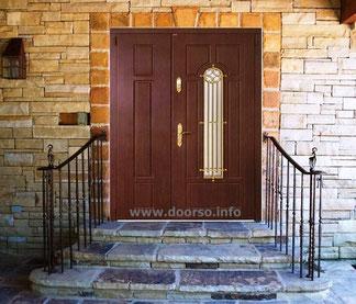 Нестандартные металлические двери со стеклом