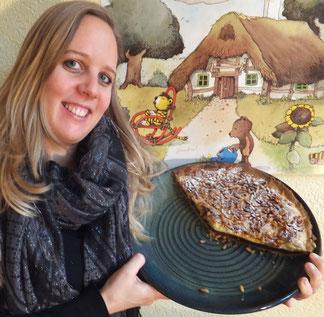 Bild: keramische Backform mit einer Torta del Nonno