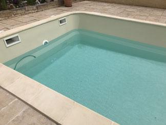 Mise en eau piscine coque polyester ivoire