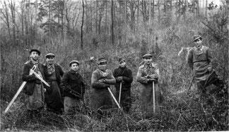 Derdinger Waldarbeiter – gibt es Fotos von Flehinger Holzmächern?