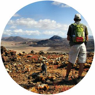Wanderführer auf Fuerteventura am Vulkan
