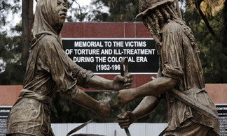Nairobi - Monumento in memoria delle migliaia di morti, torturati e incarcerati nella ribellione Mau Mau