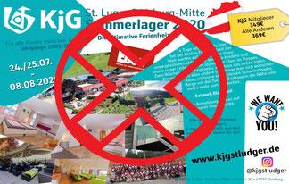 Plakat Sommerfreizeit KjG St. Ludger