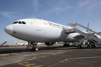 Brussels Airlines operates a unified fleet of passenger Airbus A330s on intercontinental routes. Pictured here: A330 at Dakar Léopold Sédar Senghor Arpt, Senegal  /  source: hs