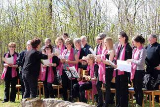 Der Aster Kirchenchor umrahmte den Gottesdienst musikalisch. Text und Fotos: Bucher