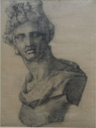 高校2年17歳秋 石膏デッサン アポロ像