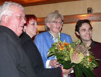 v. l.: Alfred Widmann, Birgit Schmidl, Rosi Weber, Matteo Dolce