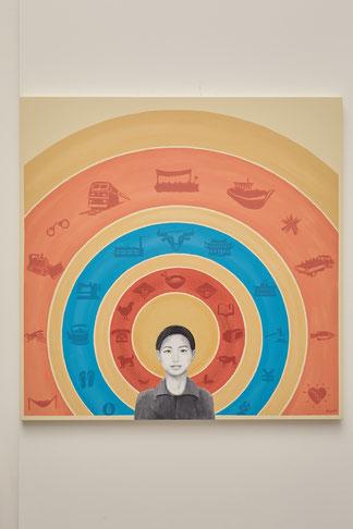 «Insignificance» Acryl auf Holz 120x120cm