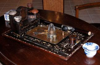 Plateau complet de fumeur d'opium