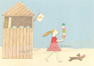 Postkarte Eis, Lola Renn