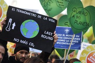 Manifestación en Madrid de Alianza por el Clima por el Cambio Climático. Cumbre de Paris © Alianza por el Clima Handout/ Pedro Armestre