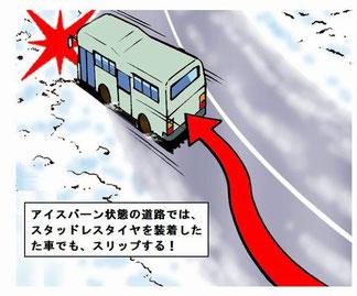 道央道・大型バススリップ事故
