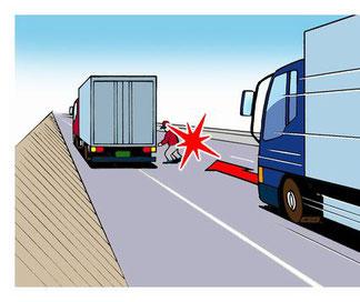 高速道路での停止車事故