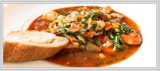 Zum Rezept Zuppa di Pesce - Italienische Fischsuppe mit Garnelen