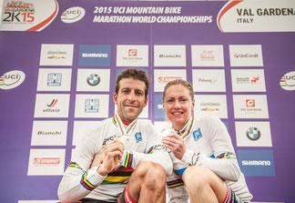 Lakata und Dahle-Flesjaa sind Marathon-Weltmeister 2015 © Sellaronda Hero