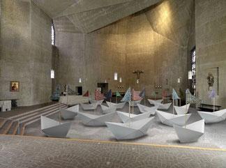 Installation in der Kulturkirche St. Gertrud