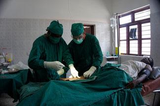 Markus am operieren