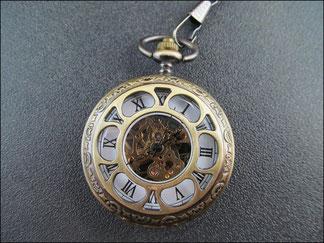 Mechanische Taschenuhr mit römischen Ziffernblatt