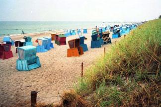 viele der Strandkörbe waren leer