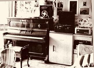 das Wohn- Musik-Zimmer von Malcolm
